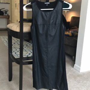 Express Dresses - XS Express faux leather dress